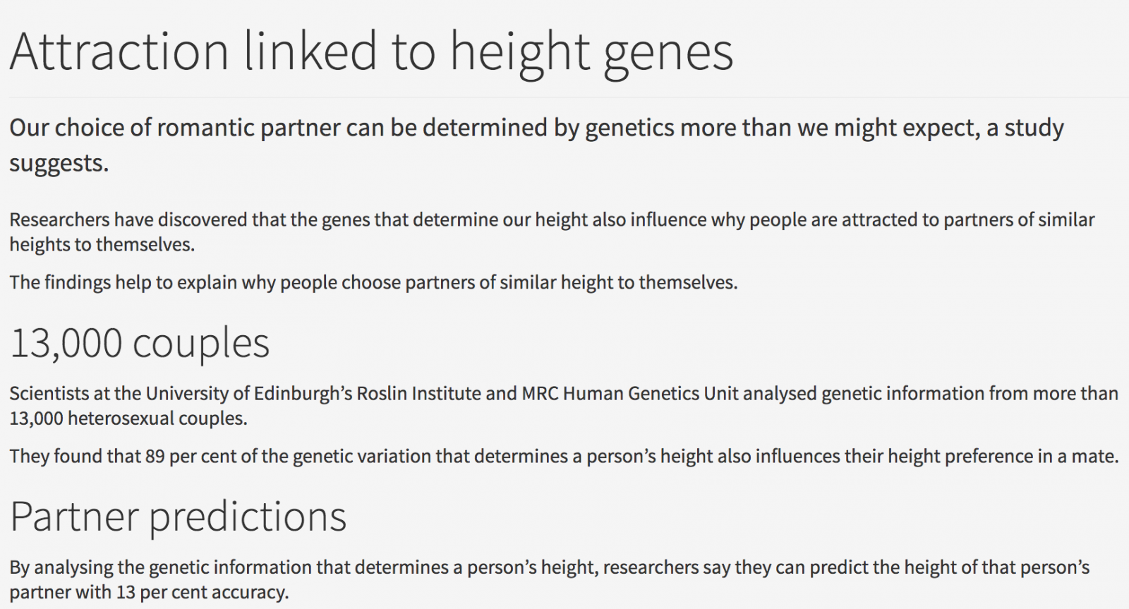 People Prefer Partners To Be Similar In Height | Height & Dating | ShortGuyCentral