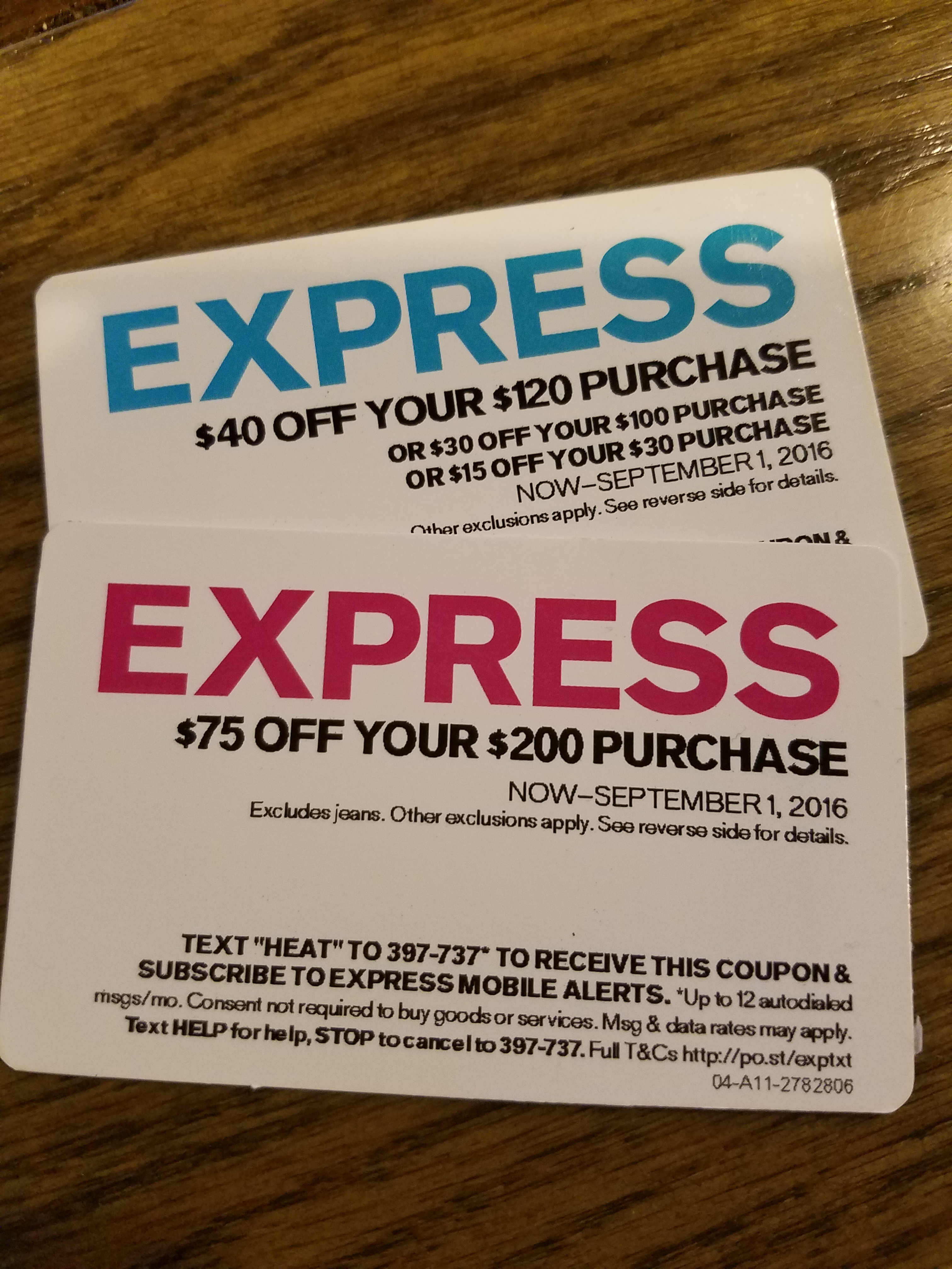 Fashion For Short Men: Express Discount Cards | ShortGuyCentral